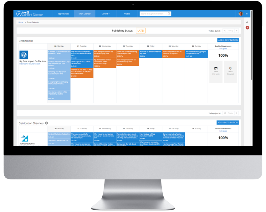 Smart content marketing calendar CMA