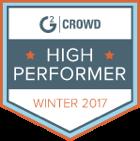 G2 Crowd High performer Winter 2017