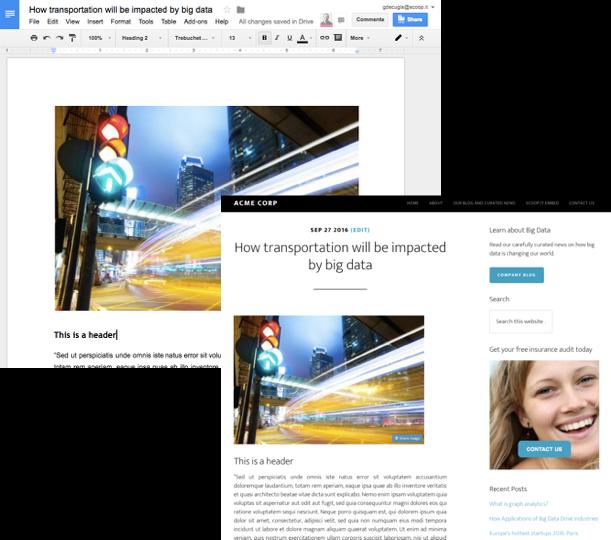 Turn Google Docs into WordPress posts