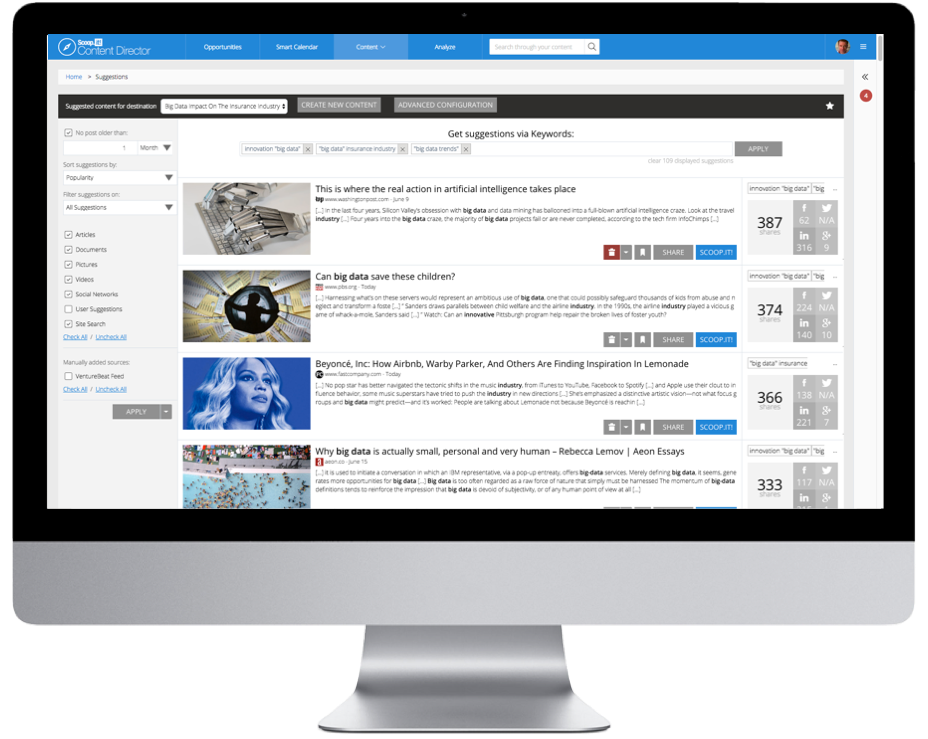 Research and curate content in minutes large