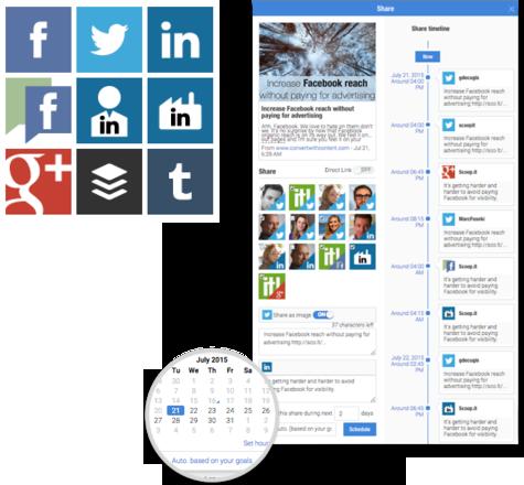 planification automatique partage sur réseaux sociaux